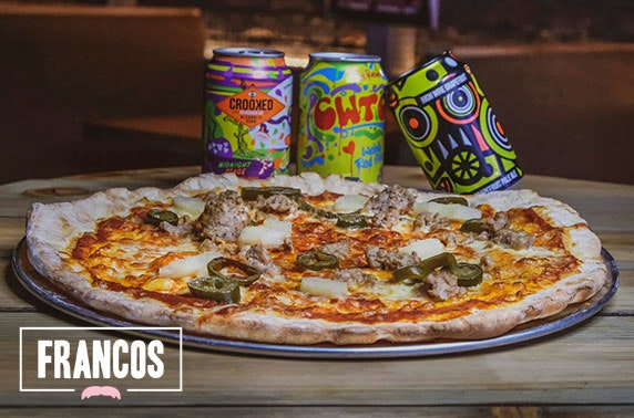 Francos Hut Hire With Pizzas Drinks West End