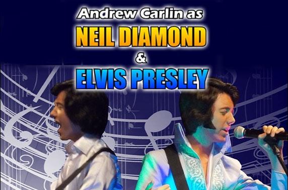 Elvis & Neil Diamond tribute with optional stay, Macdonald Cardrona