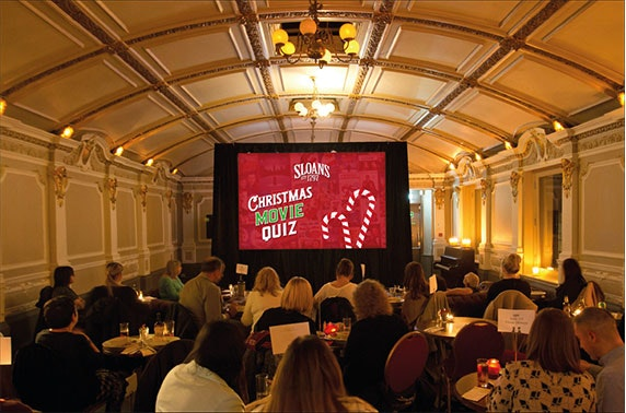 Christmas movie quiz night at Sloans