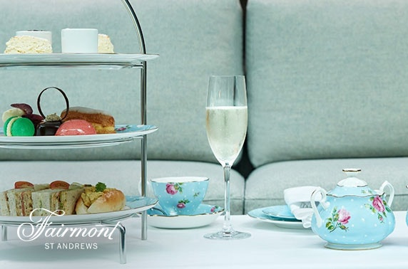 5* Fairmont St Andrews afternoon tea