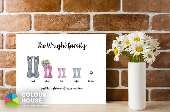 Personalised wellies canvas from £7