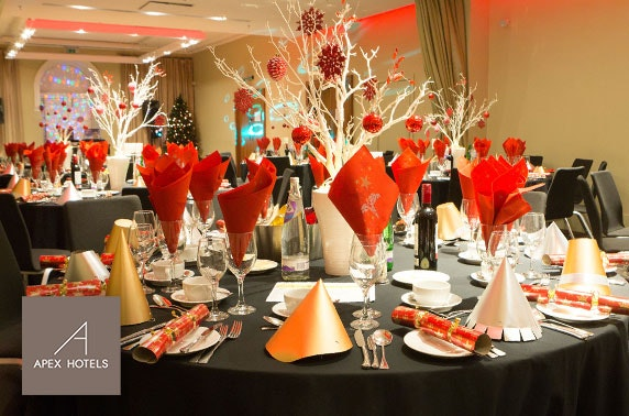 Christmas party at Apex Hotel, Edinburgh