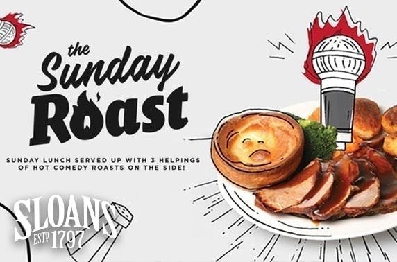 Christmas Sunday Roast comedy & lunch, Sloans