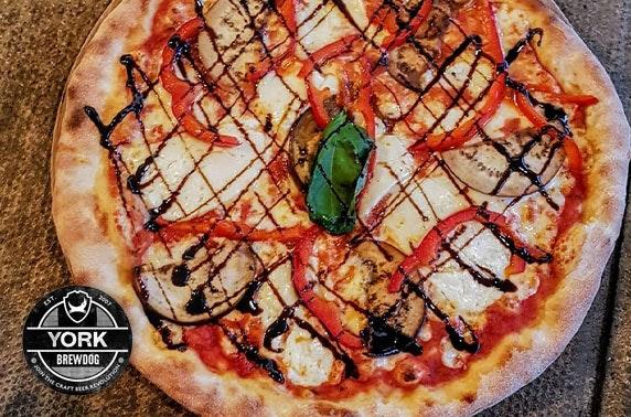 BrewDog York pizza & wine or beers