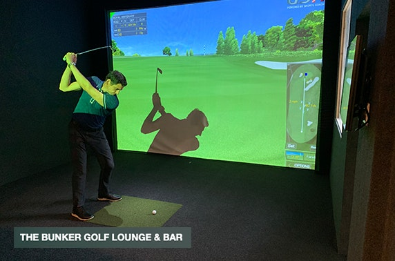 Golf simulator, The Bunker Golf Lounge & Bar
