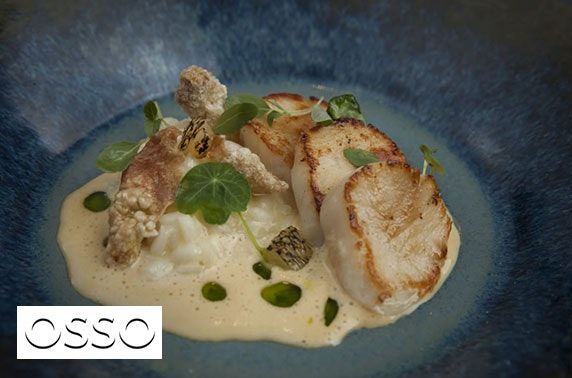 Michelin-recommended Osso dining, Peebles