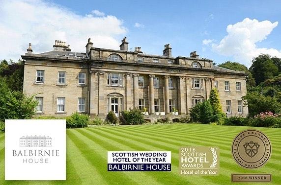 4* Balbirnie House Hotel dining