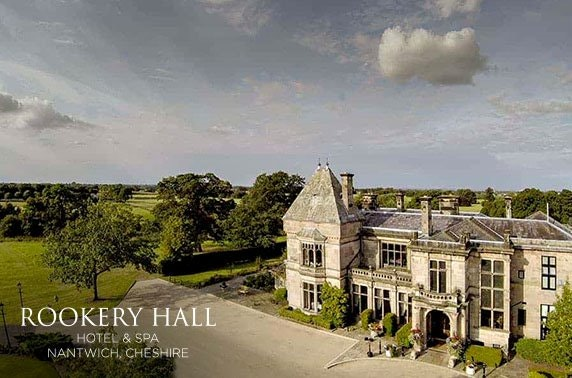 4* Rookery Hall spa day & Champagne afternoon tea