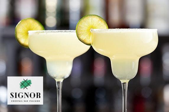Signor Cocktail Bar voucher spend, Quayside