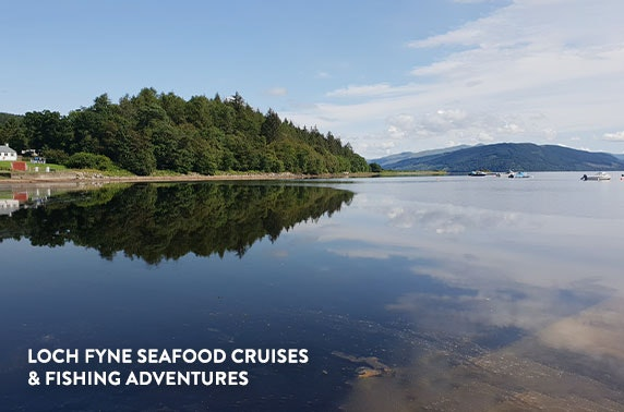 Private Loch Fyne cruise for two with seafood & Prosecco - £79
