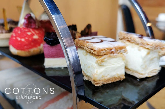 4* Cottons Hotel Prosecco afternoon tea - valid until September!