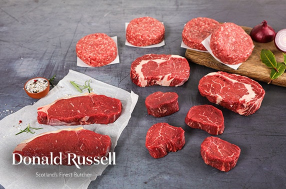 Award-winning butcher Donald Russell steaks & burgers