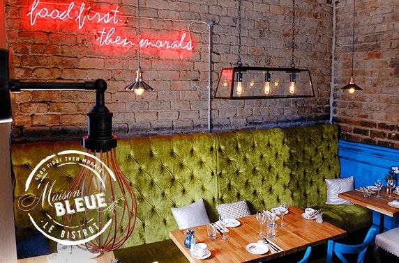 Maison Bleue Le Bistrot dining