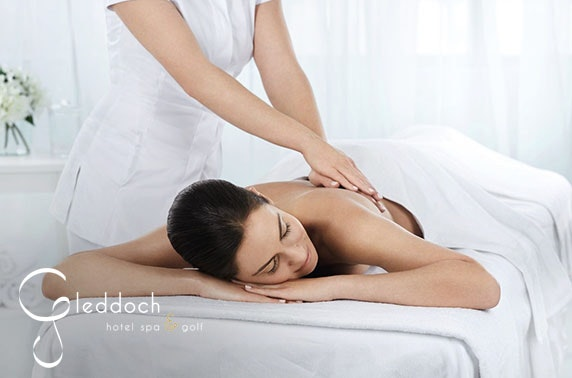 Award-winning 4* Gleddoch Hotel spa treatments