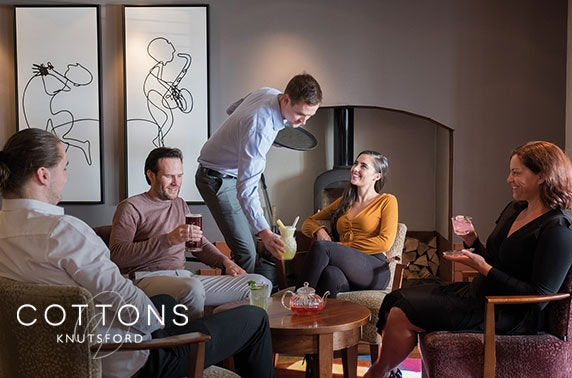 4* Cottons Hotel Prosecco afternoon tea