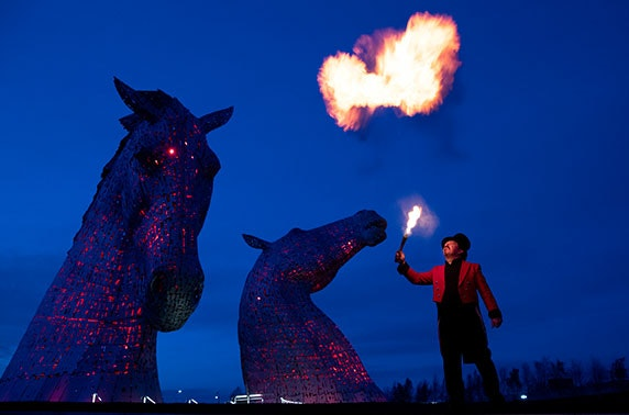 Fire & Light 2020 Visions, Helix park, Home of The Kelpies