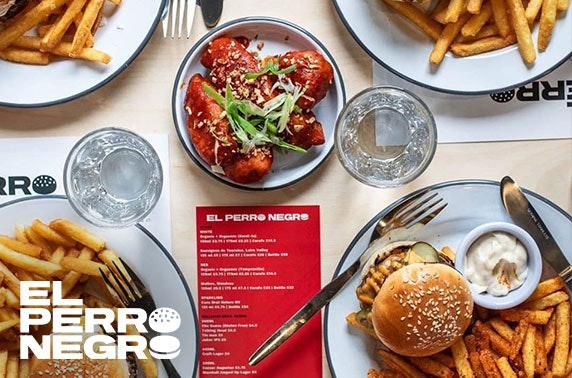 Award-winning burgers at El Perro Negro, Woodlands