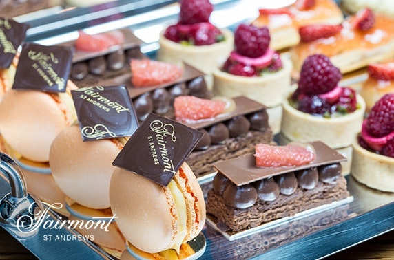 5* Fairmont St Andrews luxury afternoon tea and leisure access