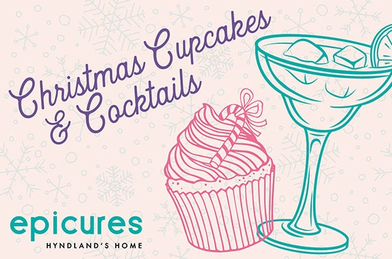 Christmas cupcake decorating with cocktails, epicures