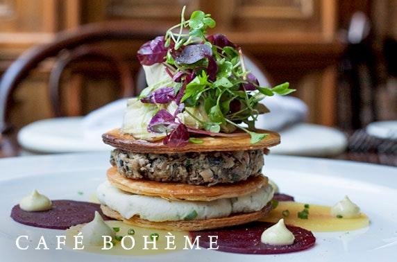 Café Bohème dining