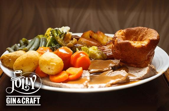 Jolly Gin and Craft Sunday roast, Falkirk