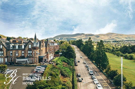 Braid Hills Hotel afternoon tea and fizz
