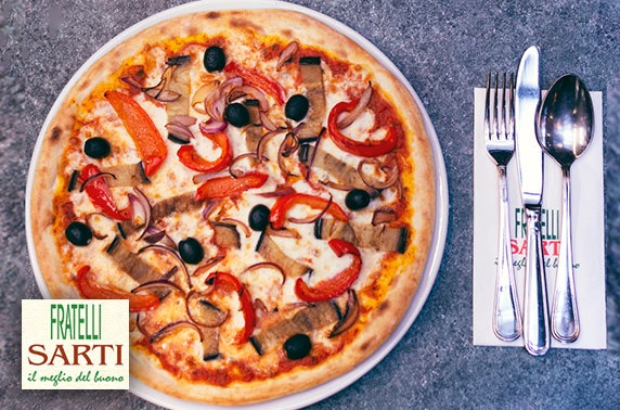 Sarti pizza or pasta, valid 7 days