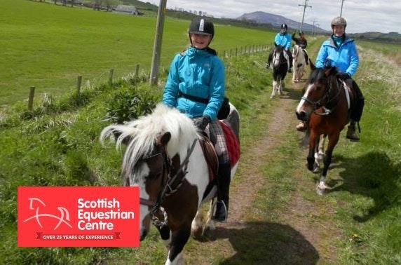 5* horse riding experience day, Lanark