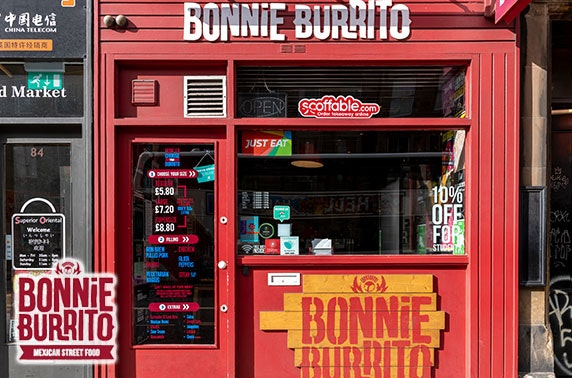 Bonnie Burrito Mexican dining or Bonnie Sauce Co gift pack