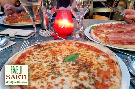 Sarti pizza or pasta, valid 7 days