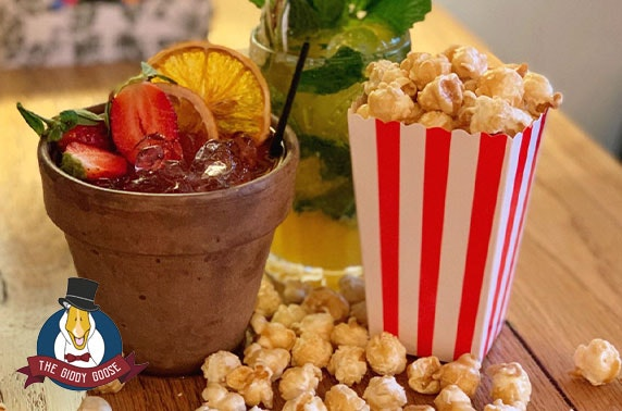 Cocktails & popcorn at The Giddy Goose - £4.50pp