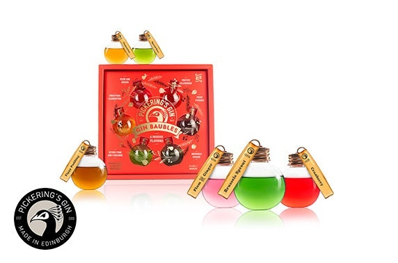 Pickering's Festively Flavoured Gin Baubles