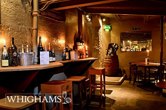 Whighams Wine Cellars sharing board & wine
