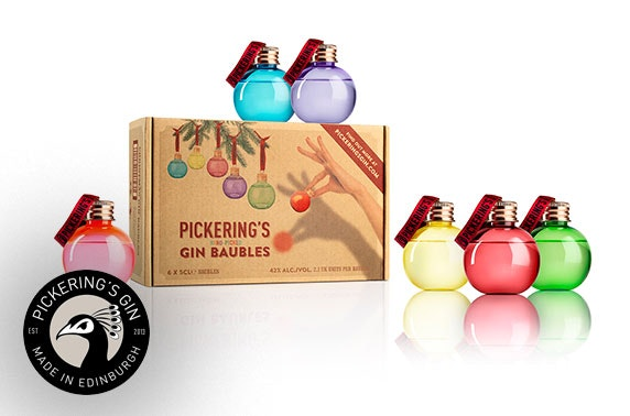 Pickering's Christmas Gin Baubles with Distillery Tour Tickets