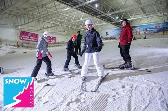Snow Factor taster session and pizza, Braehead