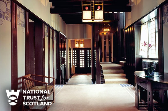 Charles Rennie Mackintosh's Hill House entry & afternoon tea