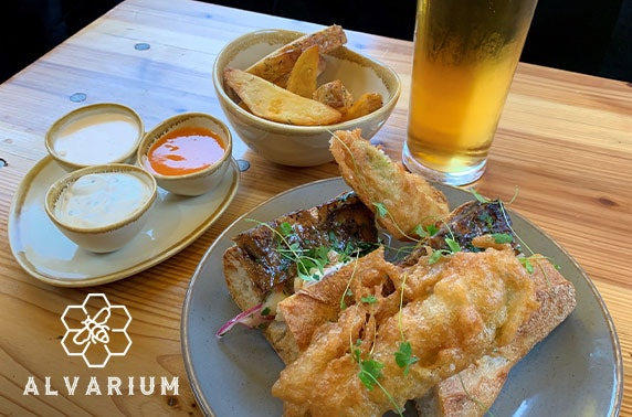 Sandwiches, sides and drinks at Alvarium, Northern Quarter