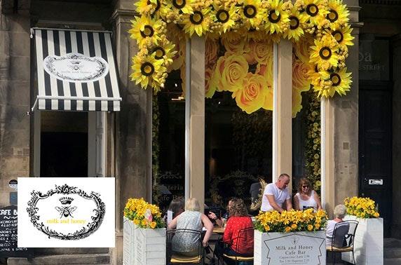Afternoon tea at Milk & Honey, George Street