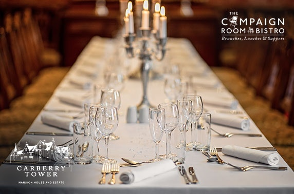 4* Carberry Tower private dining - from under £30pp