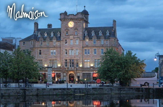 4* Malmaison 2 course dining, Leith