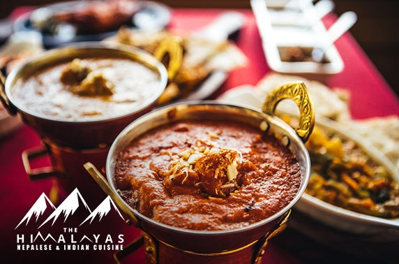 Curries at The Himalayas Nepalese & Indian Cuisine