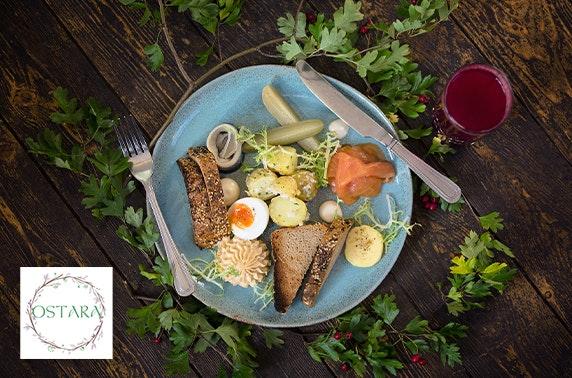 Award-winning Ostara lunch, Leith