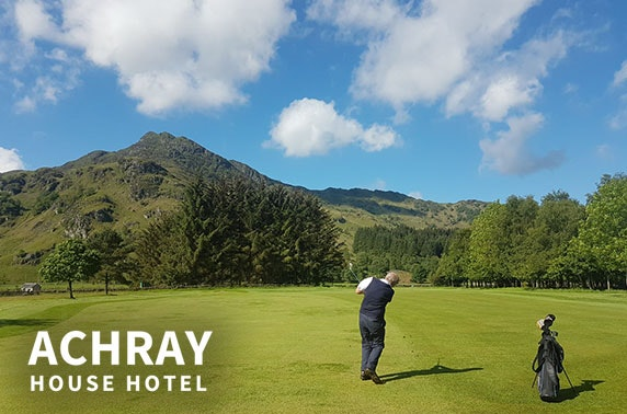 Award-winning Achray House golf break