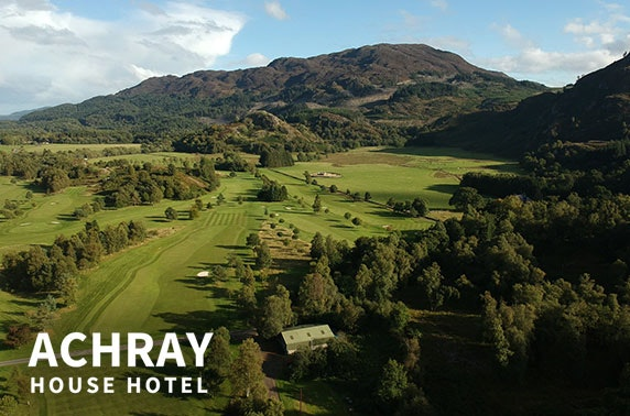 Award-winning Achray House stay plus golf