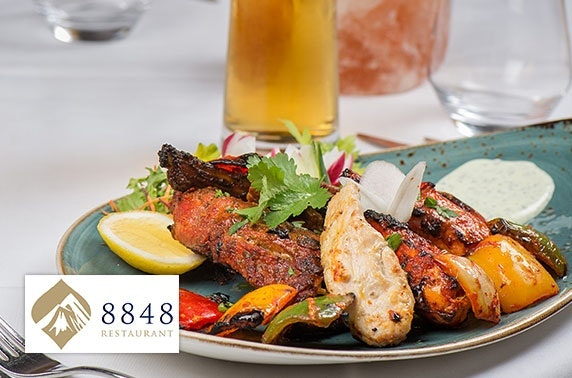 Award-winning 8848 Restaurant voucher spend & Prosecco
