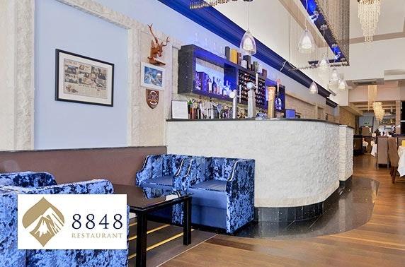 Award-winning 8848 Restaurant dining