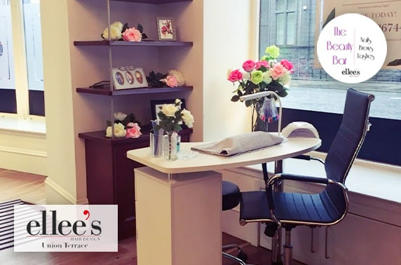Gel nails or lashes & brows at Ellee's Hair Design