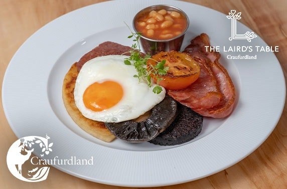 Breakfast at The Laird's Table, Ayrshire