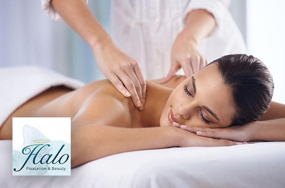 Floatation session & massage at Halo Floatation and Beauty