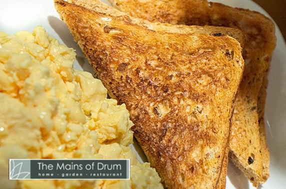 5* The Mains of Drum Garden Centre breakfast